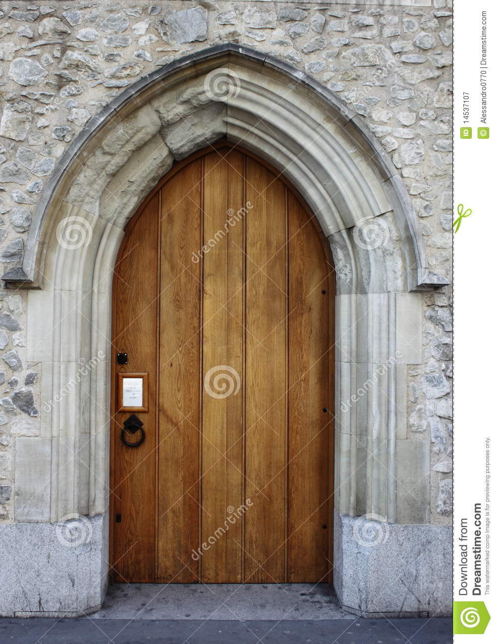 Medieval Front Door Royalty Free Stock Photography Image