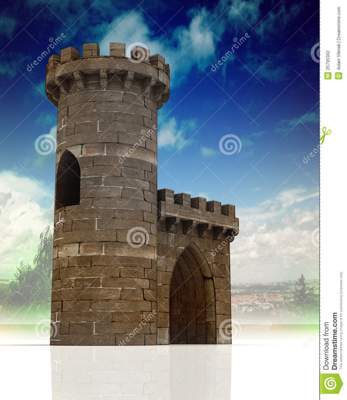 Medieval Gate And Guard Tower Stock Photography Image