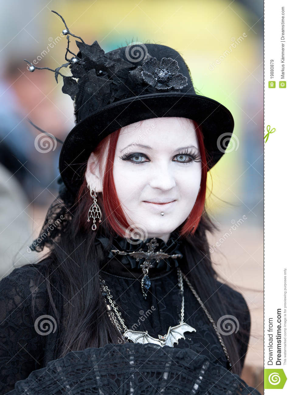 Medieval Girl At Wave Gotik Treffen Editorial Stock Image ...