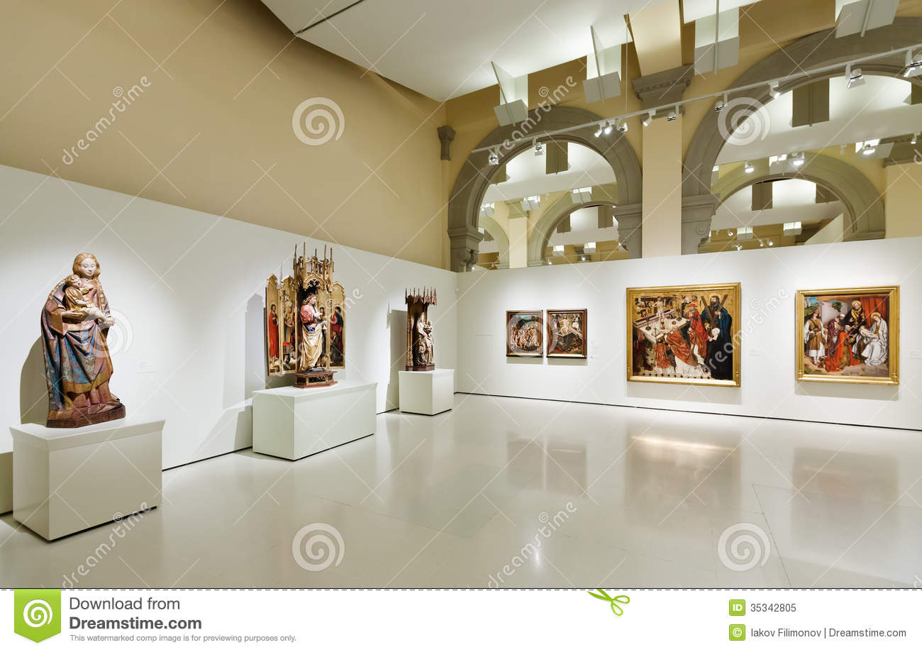 Medieval Gothic style Art hall