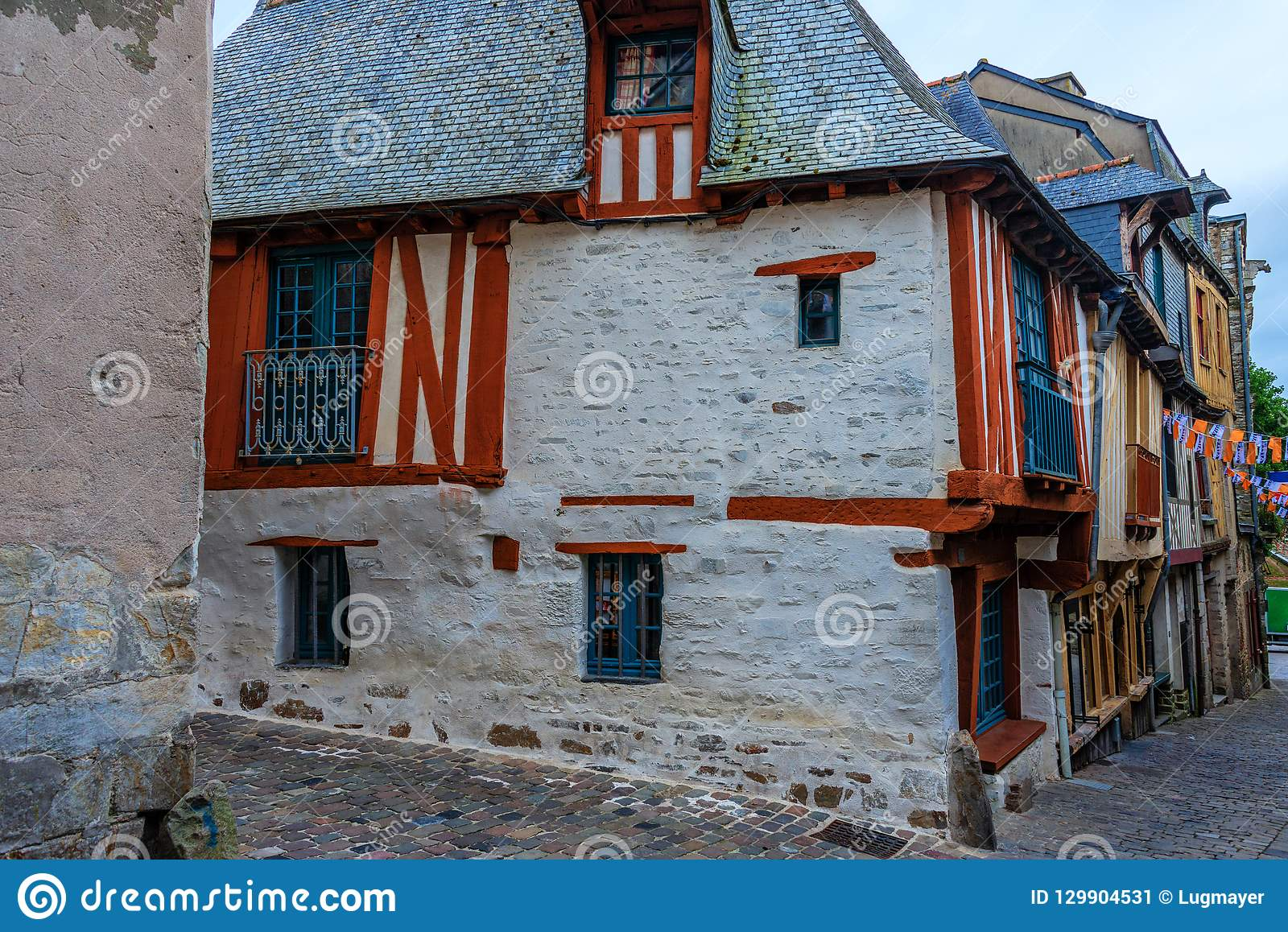Marvelous Medieval Half Timbered House In Vitre Brittany France Beutiful Home Inspiration Papxelindsey Bellcom