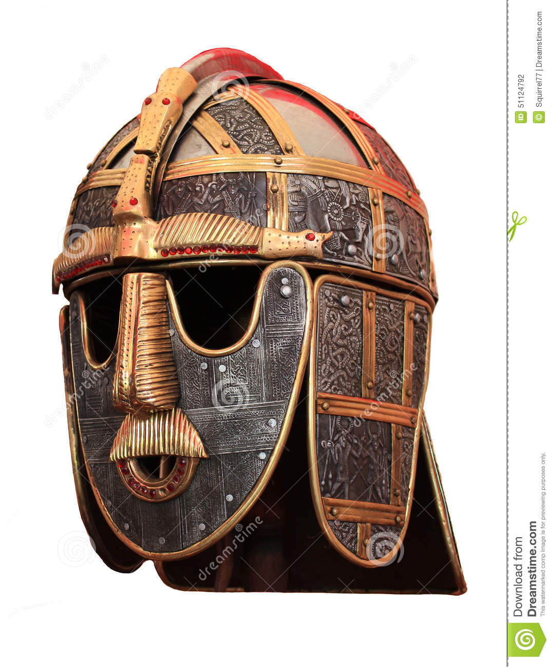 Medieval Head Armour Knights Helmet Stock Photo - Image of ...