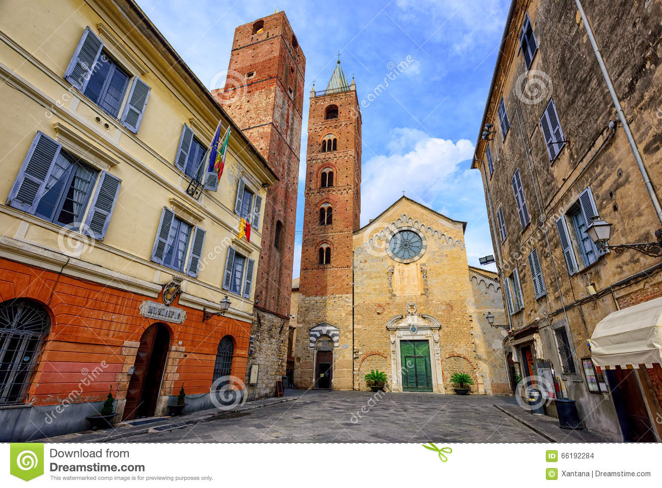 medieval historical town albenga liguria italy stock photo image of architecture high 66192284. Black Bedroom Furniture Sets. Home Design Ideas