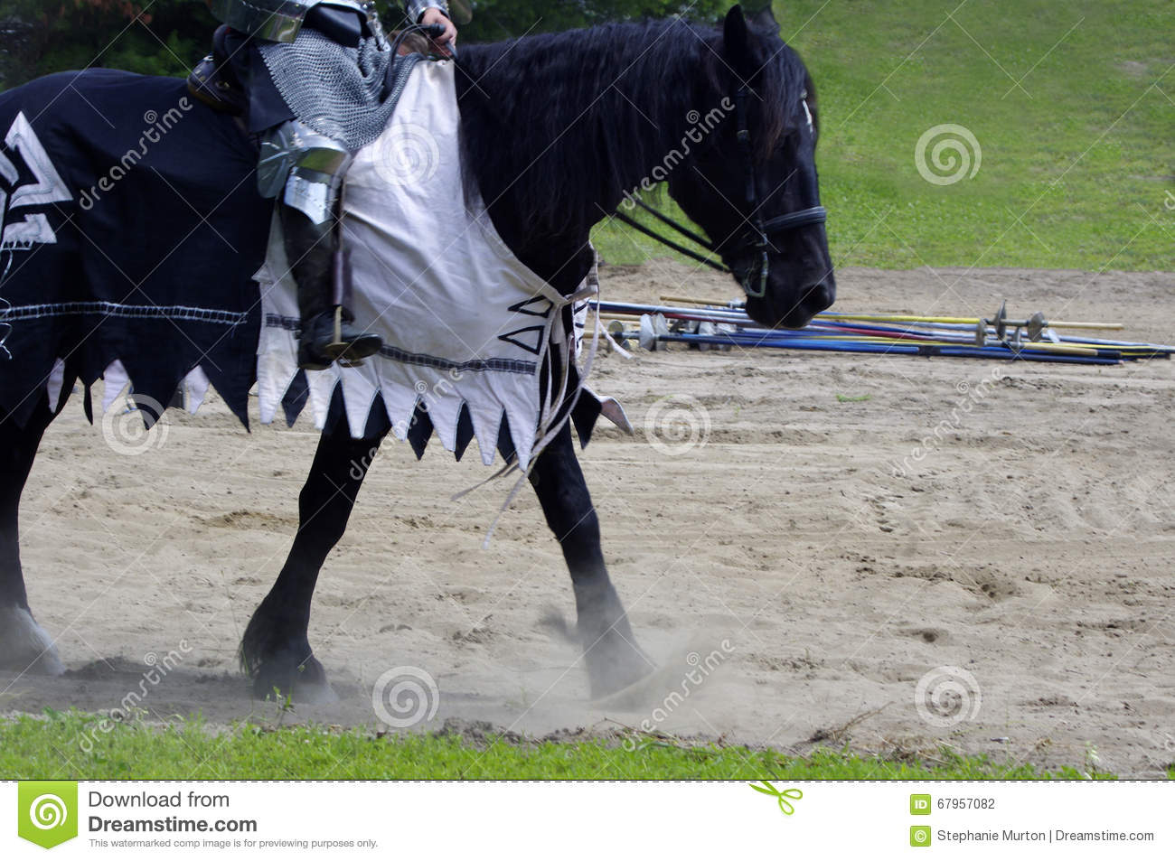 Medieval Horse Walking Stock Photo Image Of Competition 67957082