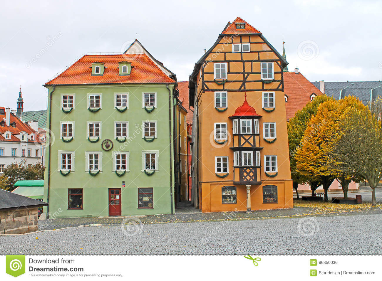 Medieval House Called Spalicek. Market Square In Cheb, Czech Republick.
