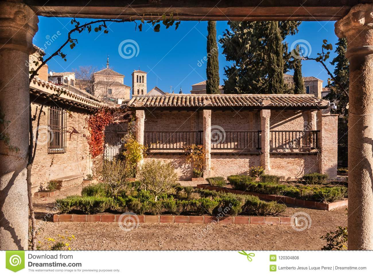 Medieval House With Garden In Toledo Spain Stock Photo - Image of ...
