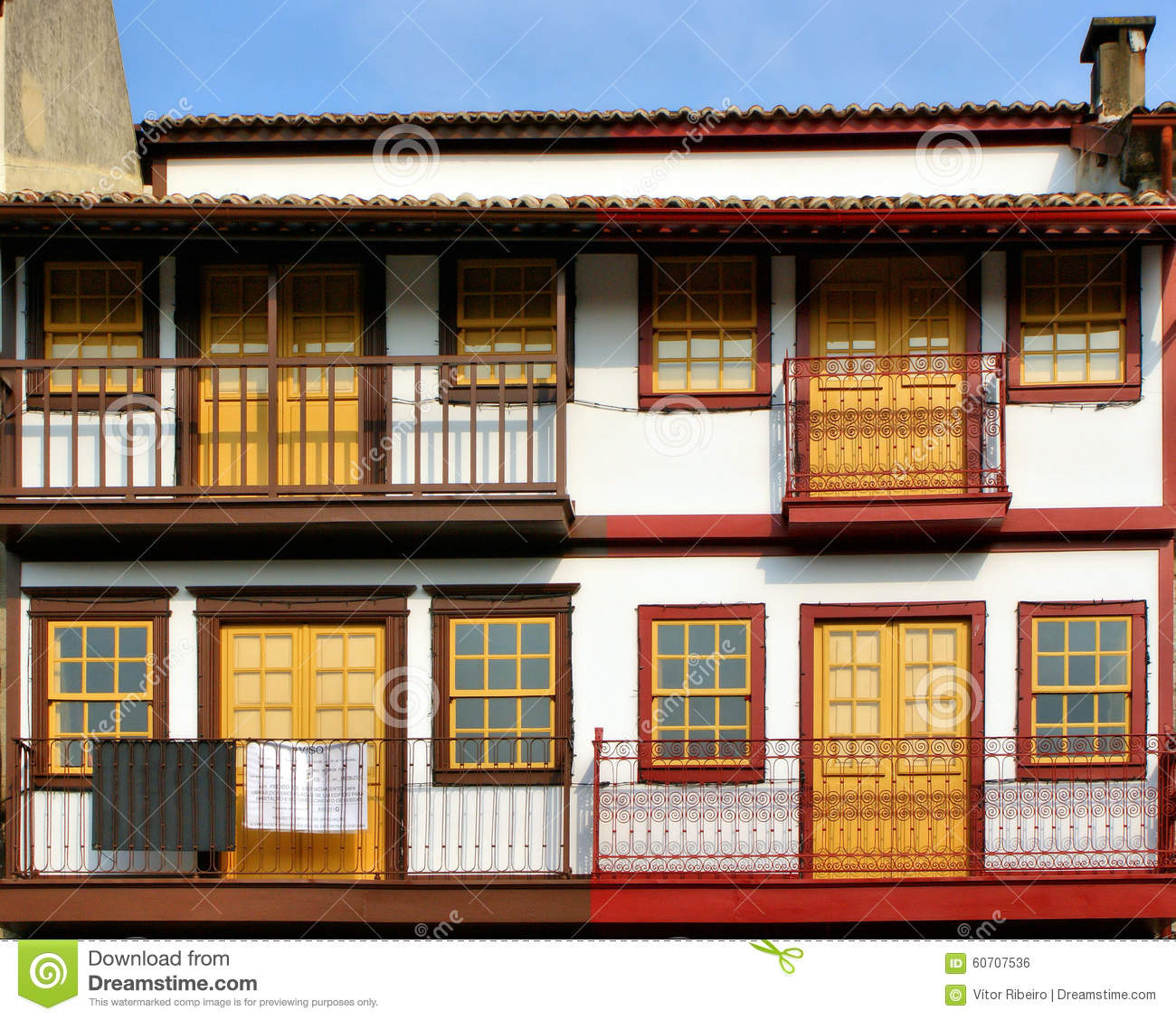 Medieval houses in the Historical Center of Guimaraes