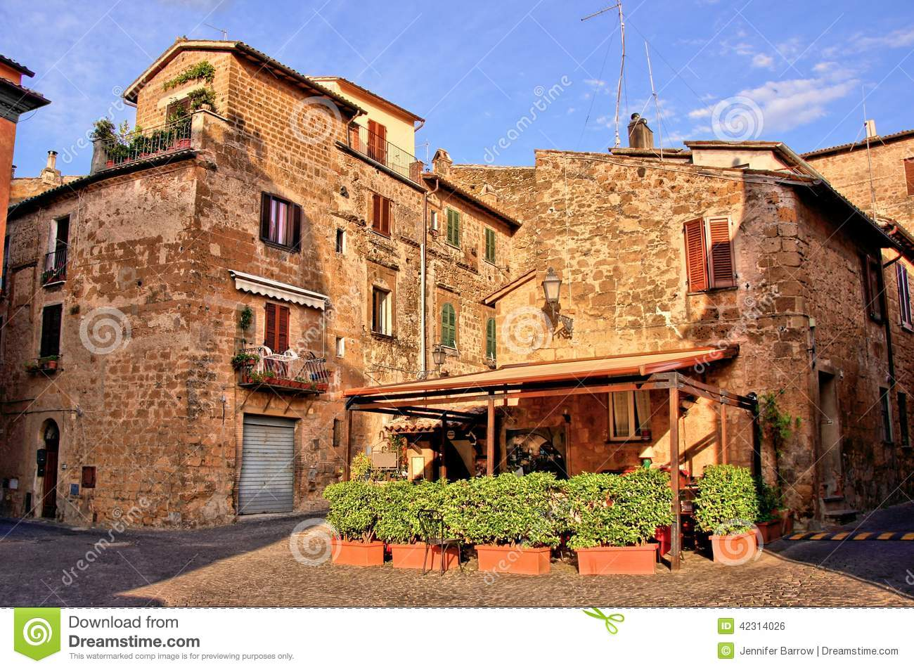 royalty free stock image medieval italian village image
