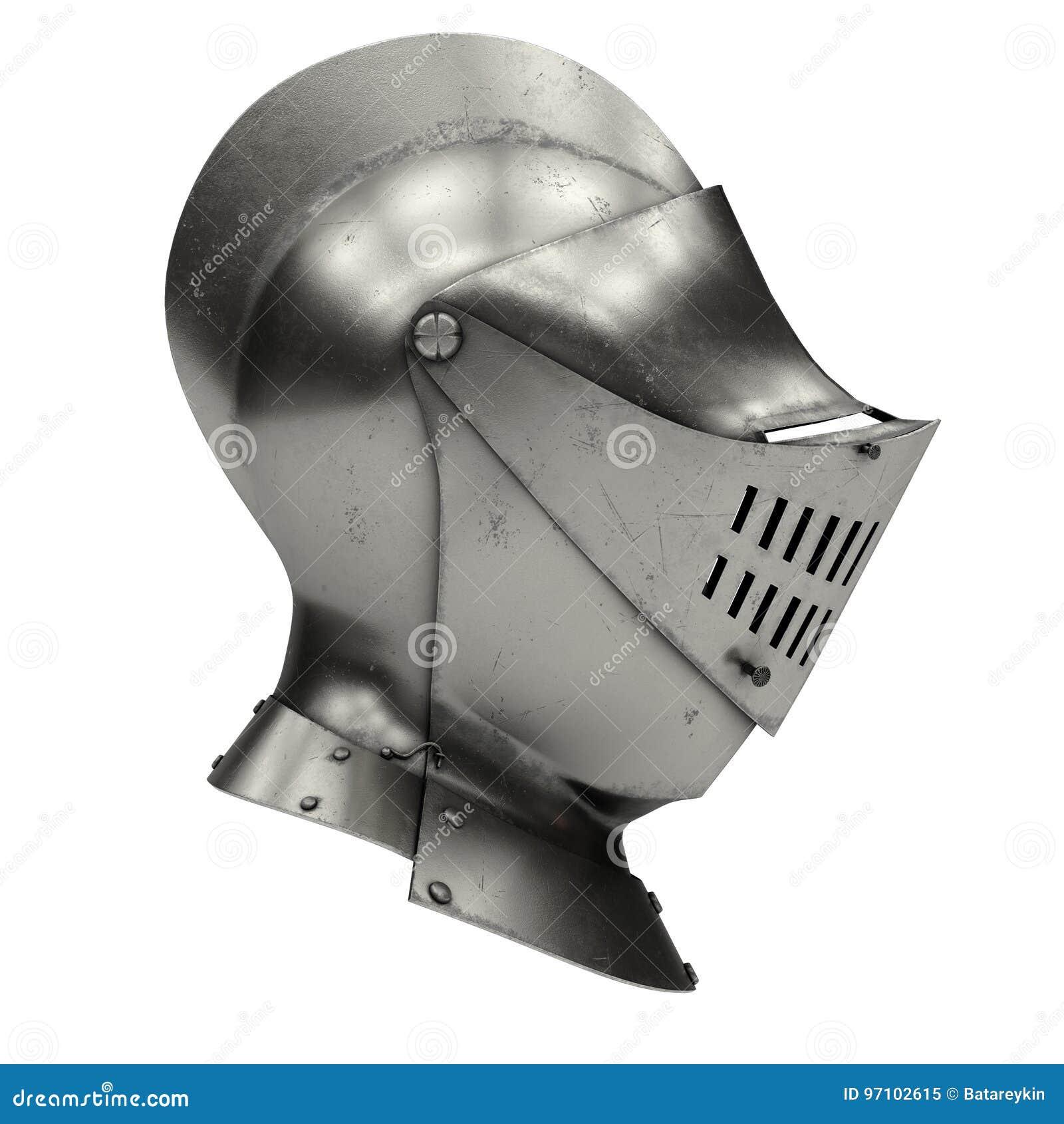 Medieval Knight Armet Helmet Stock Illustration
