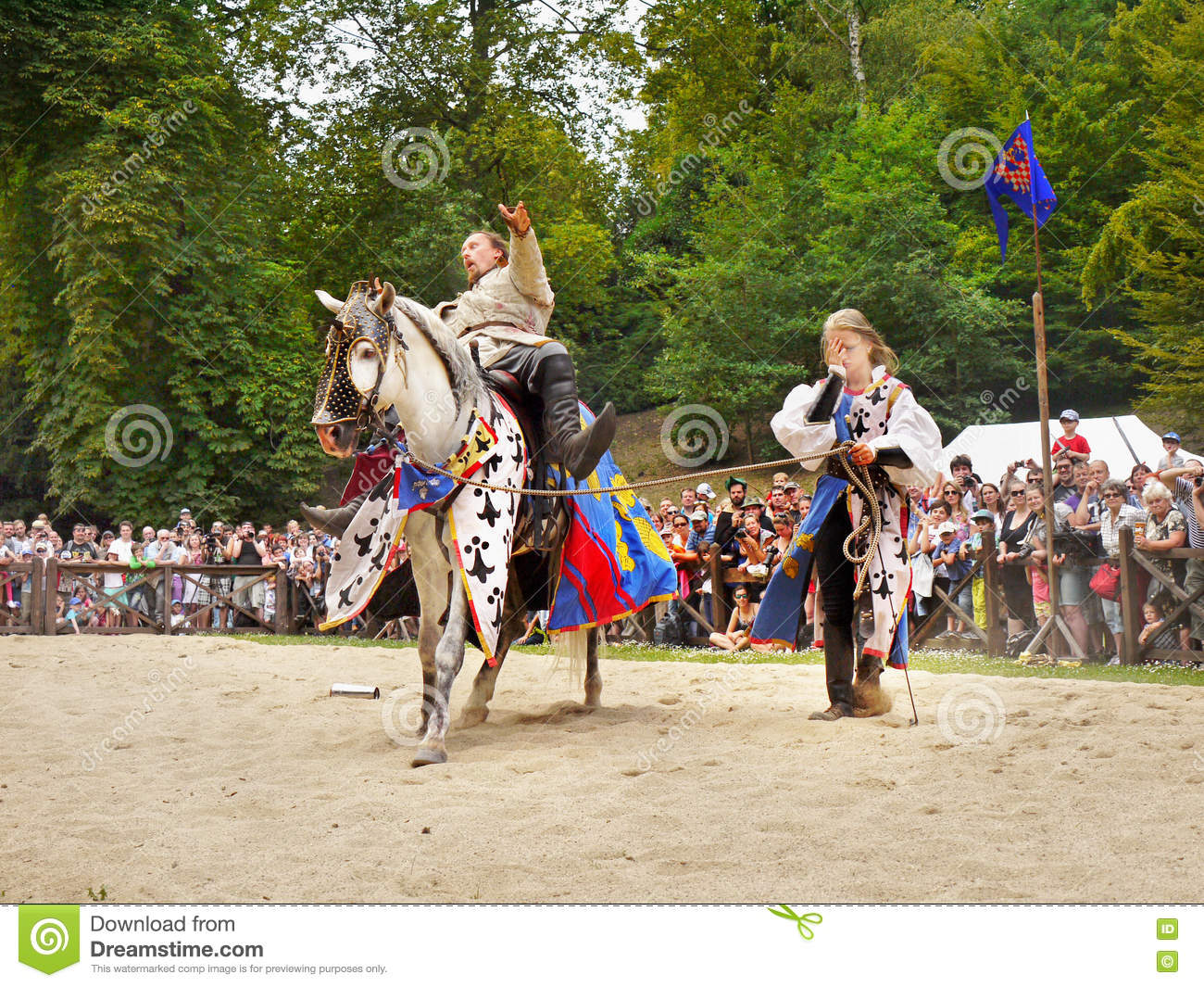Medieval Knight Horse Riding Prague Castle Editorial Image Image Of Republic History 74597925