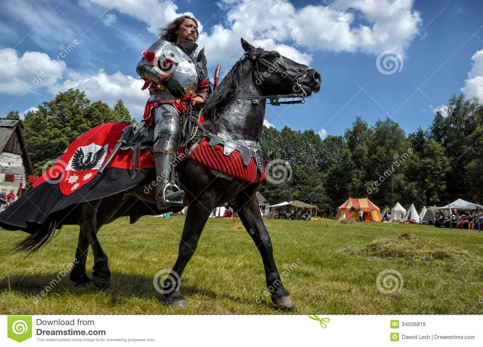 Medieval Knight On Horse Medieval knight on horseback