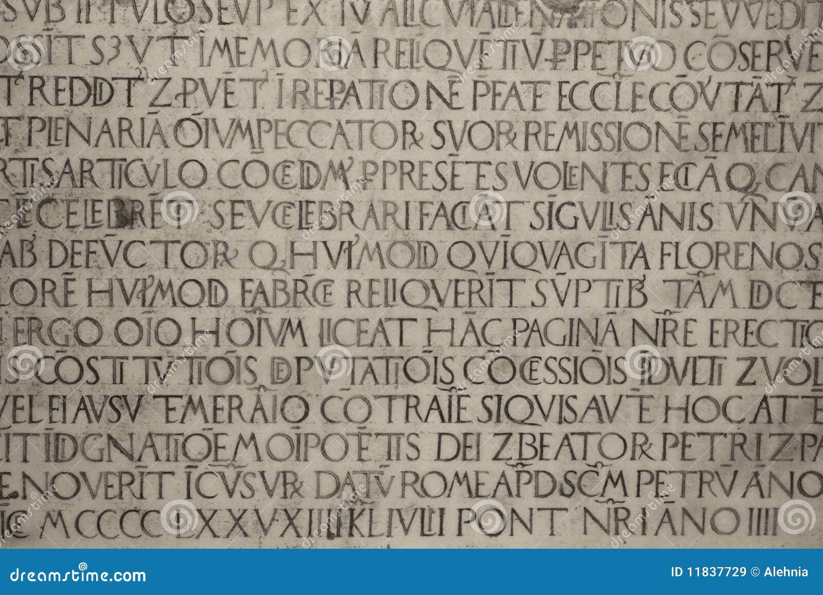 Medieval Latin Catholic Inscription Royalty Free Stock Images - Image ...