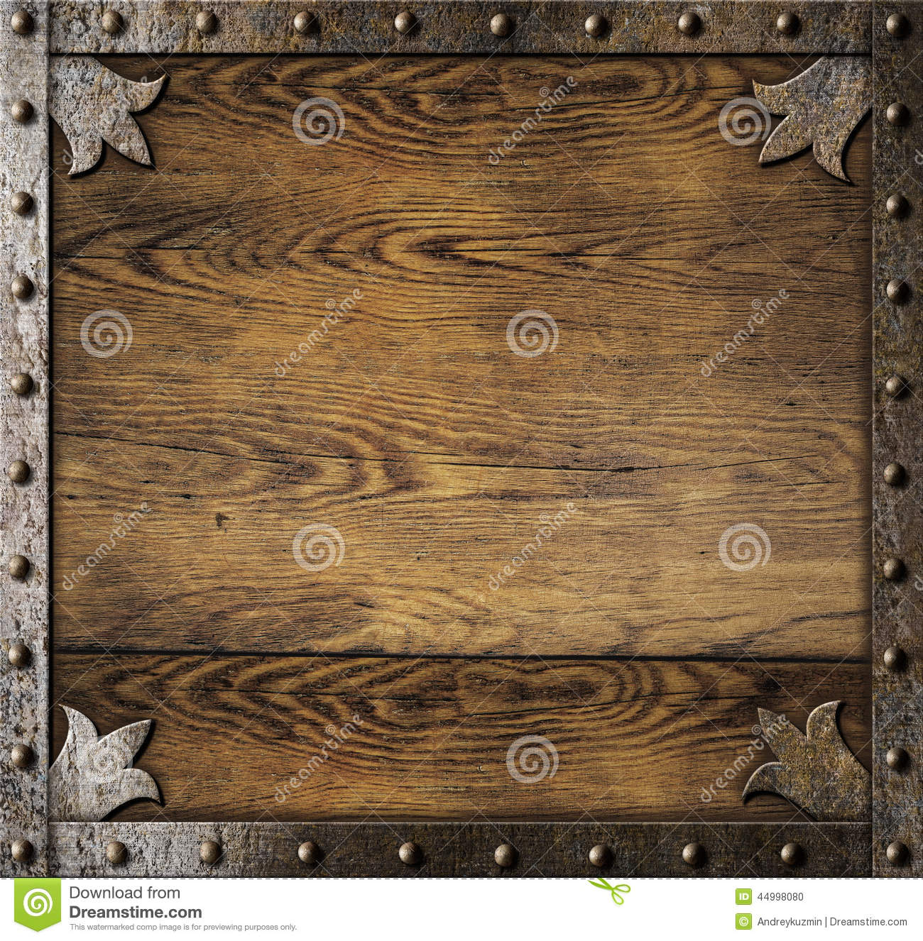 medieval metal frame over old wooden background stock photo image of smithy house 44998080. Black Bedroom Furniture Sets. Home Design Ideas