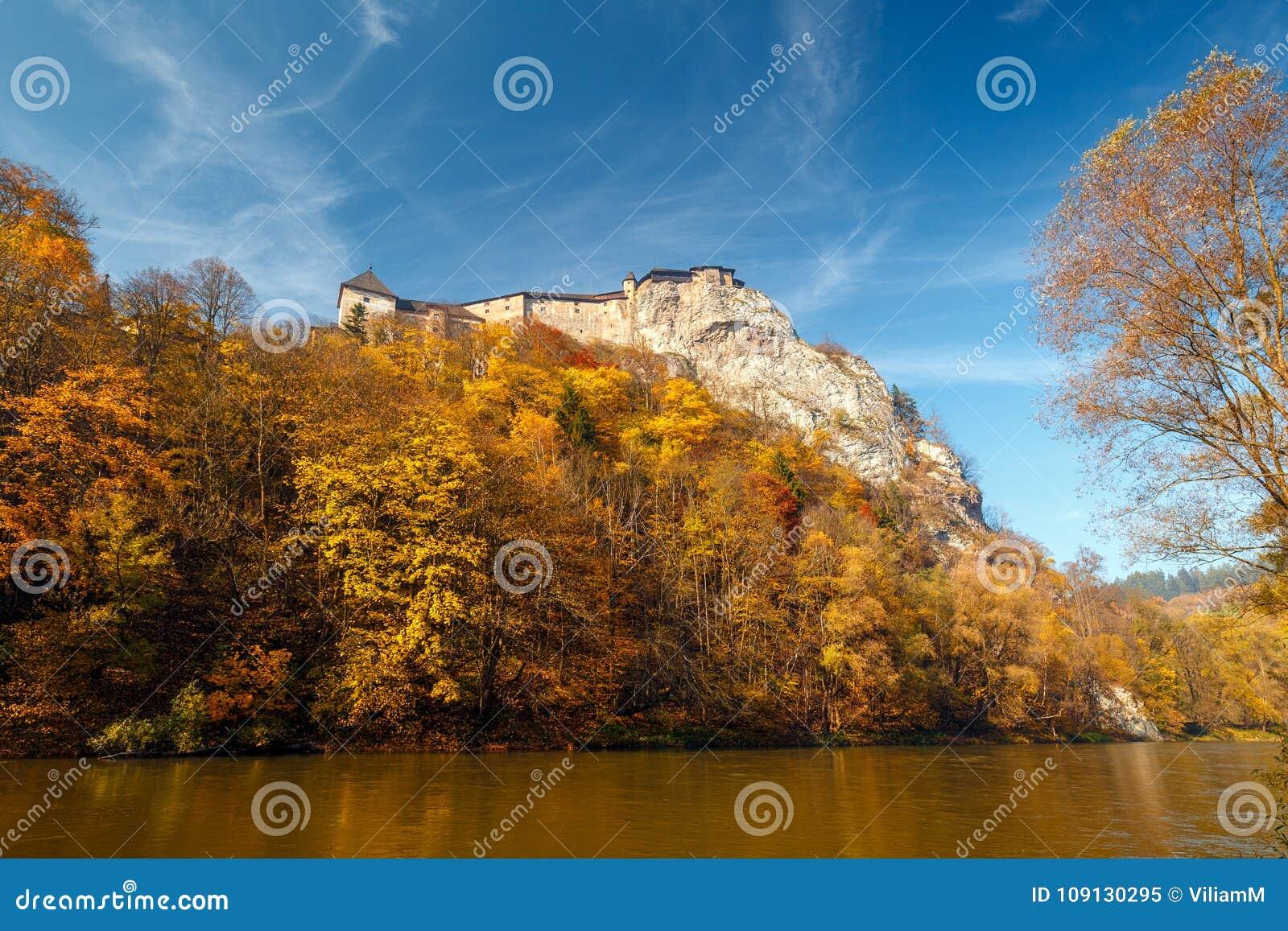 The medieval Orava Castle.