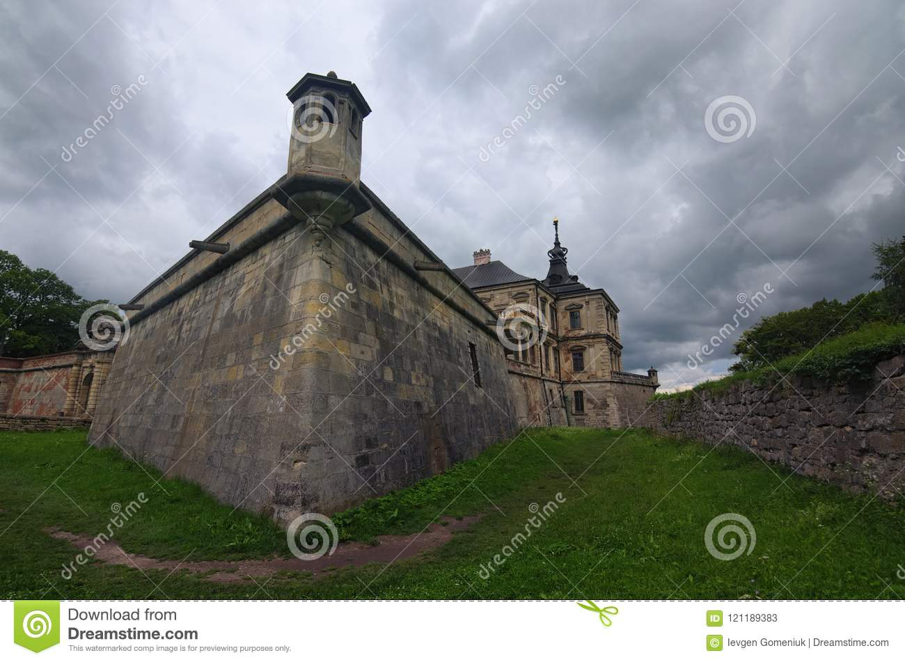Medieval pidhirtsi castle at cloudy summer day several minutes download comp publicscrutiny Image collections