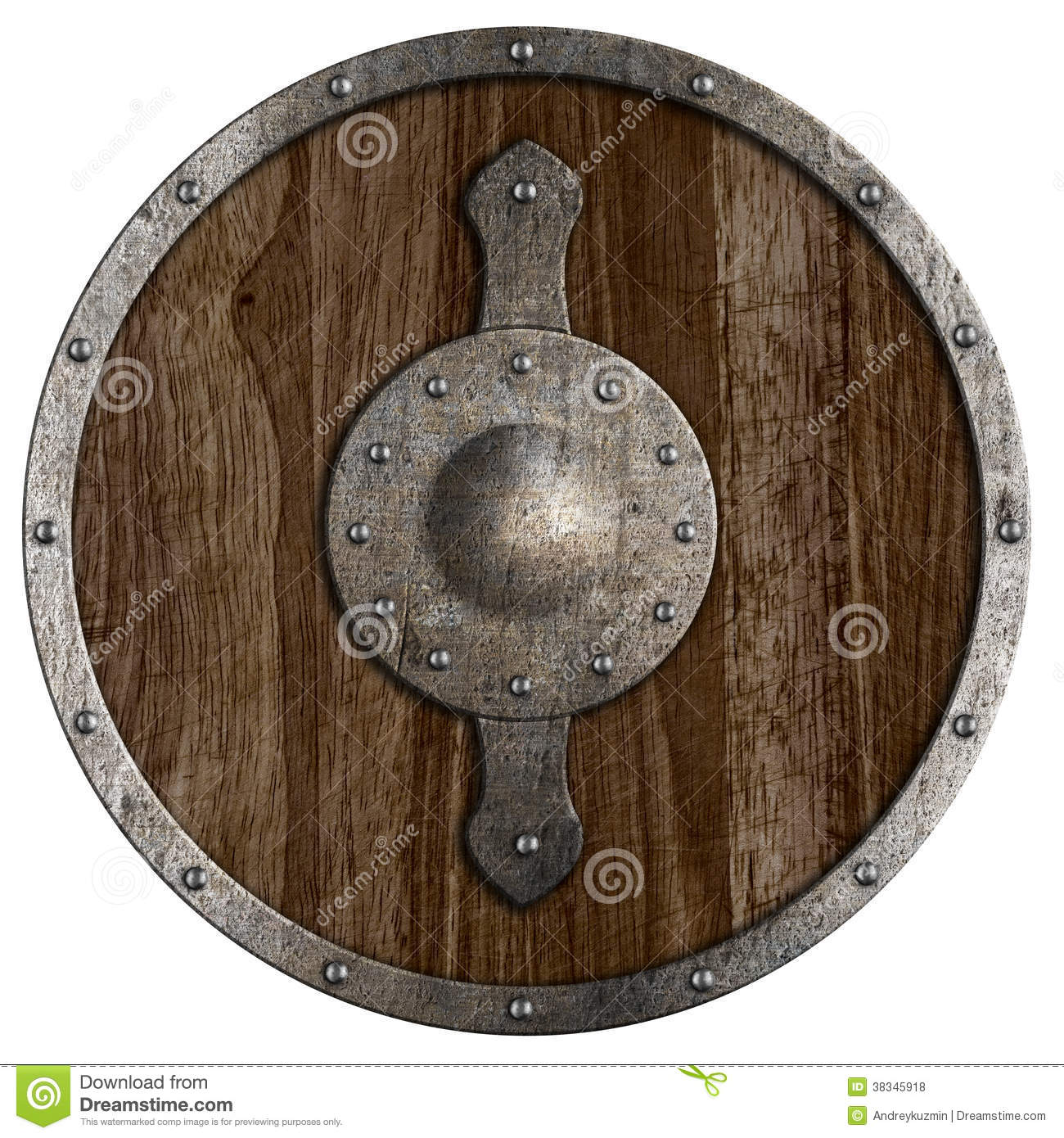 Medieval Round Wooden Shield Isolated Royalty Free Stock ...