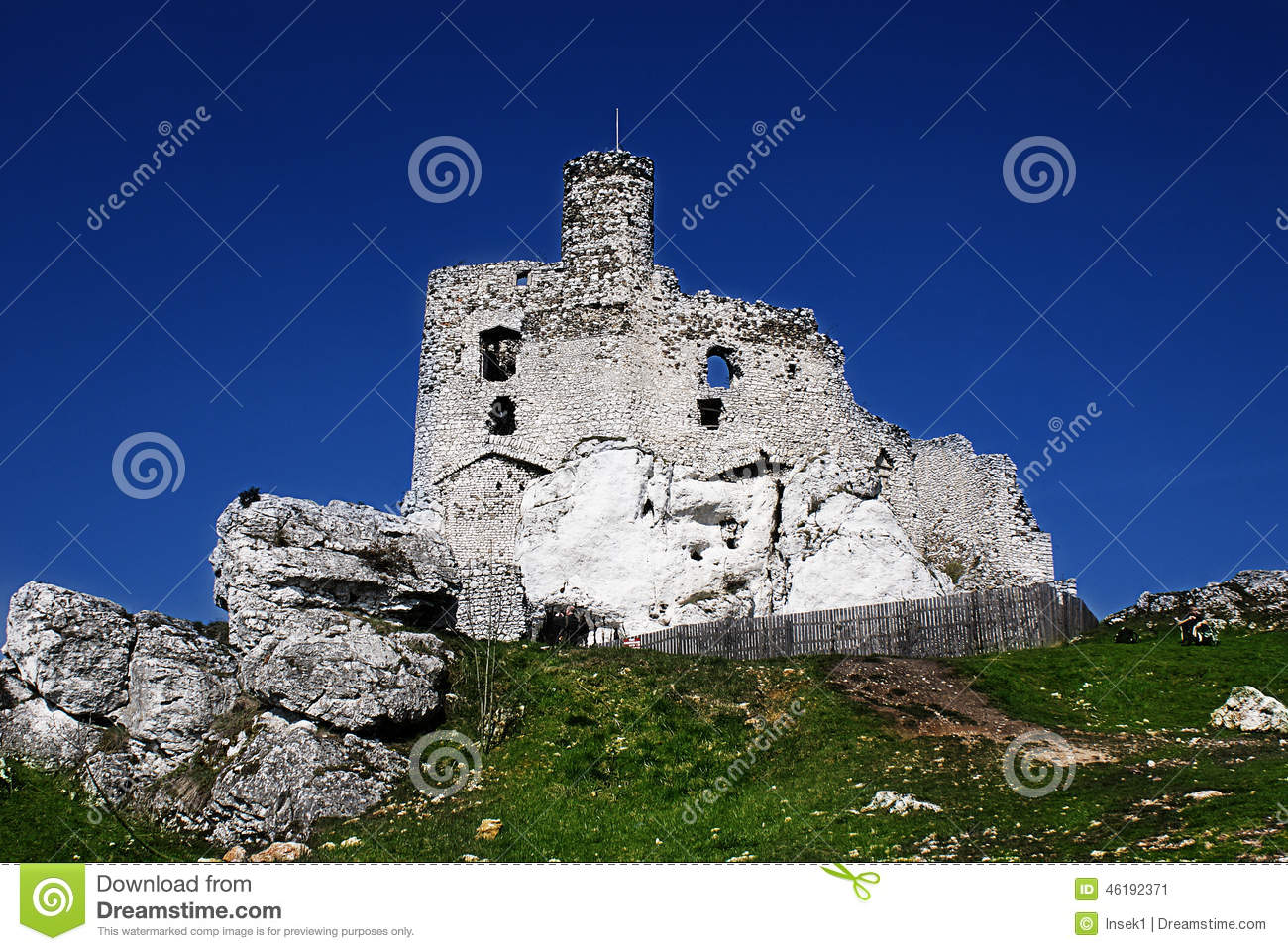 Medieval Ruins Of Mirow Castle Poland