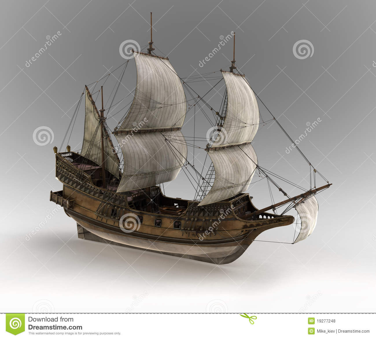 Medieval Sail Ship Royalty Free Stock Photos Image 19277248