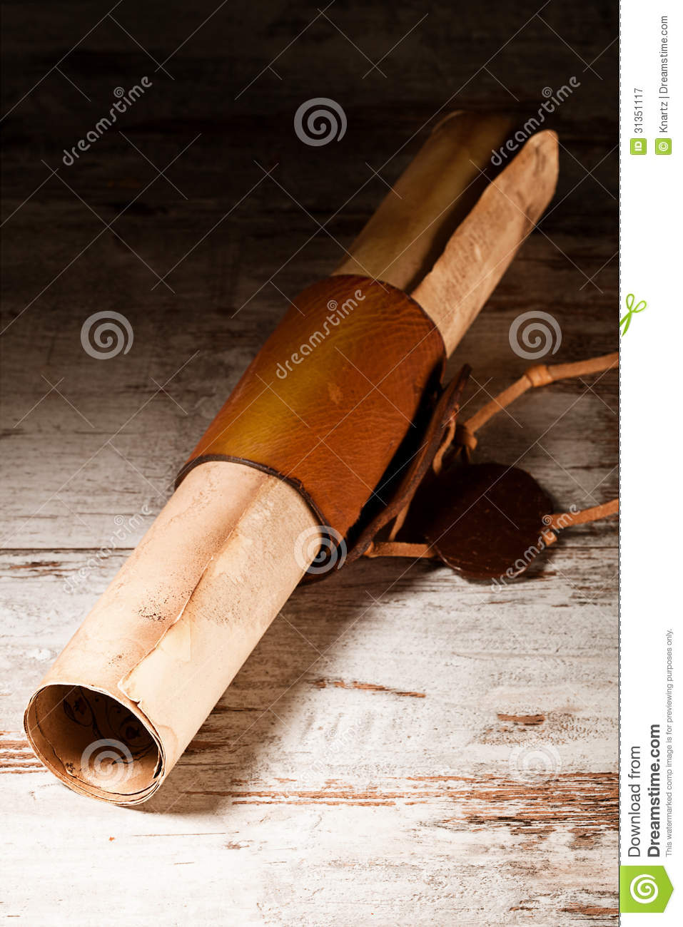 Medieval Scroll Royalty Free Stock Photography Image