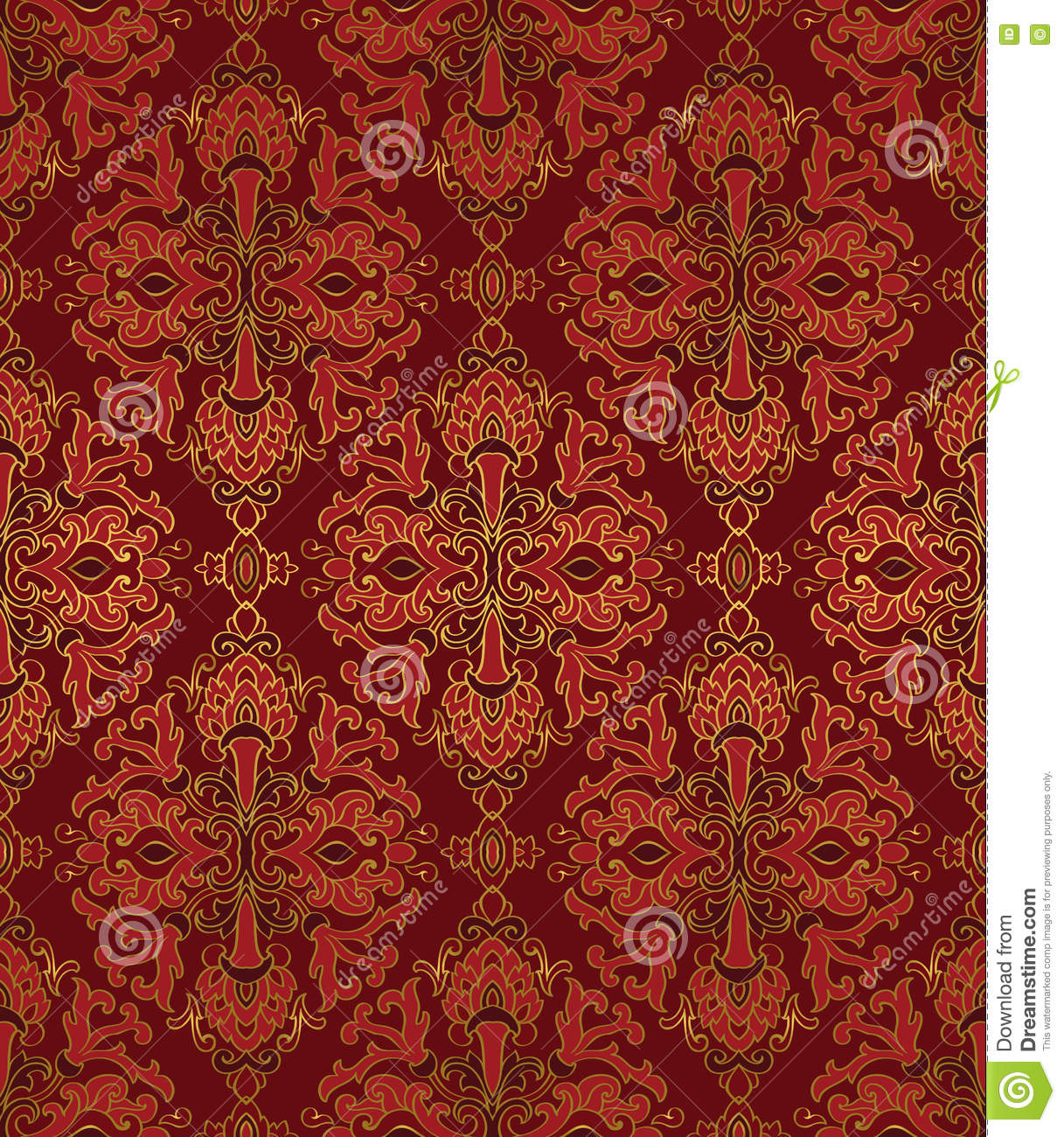 Red Carpet Texture Pattern: Medieval Seamless Pattern. Stock Vector. Illustration Of