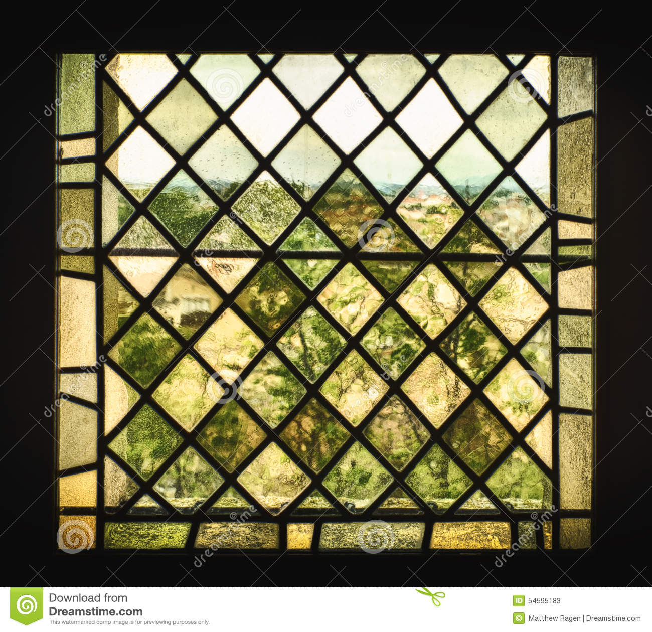 Medieval Stained Glass Window Stock Image Image 54595183