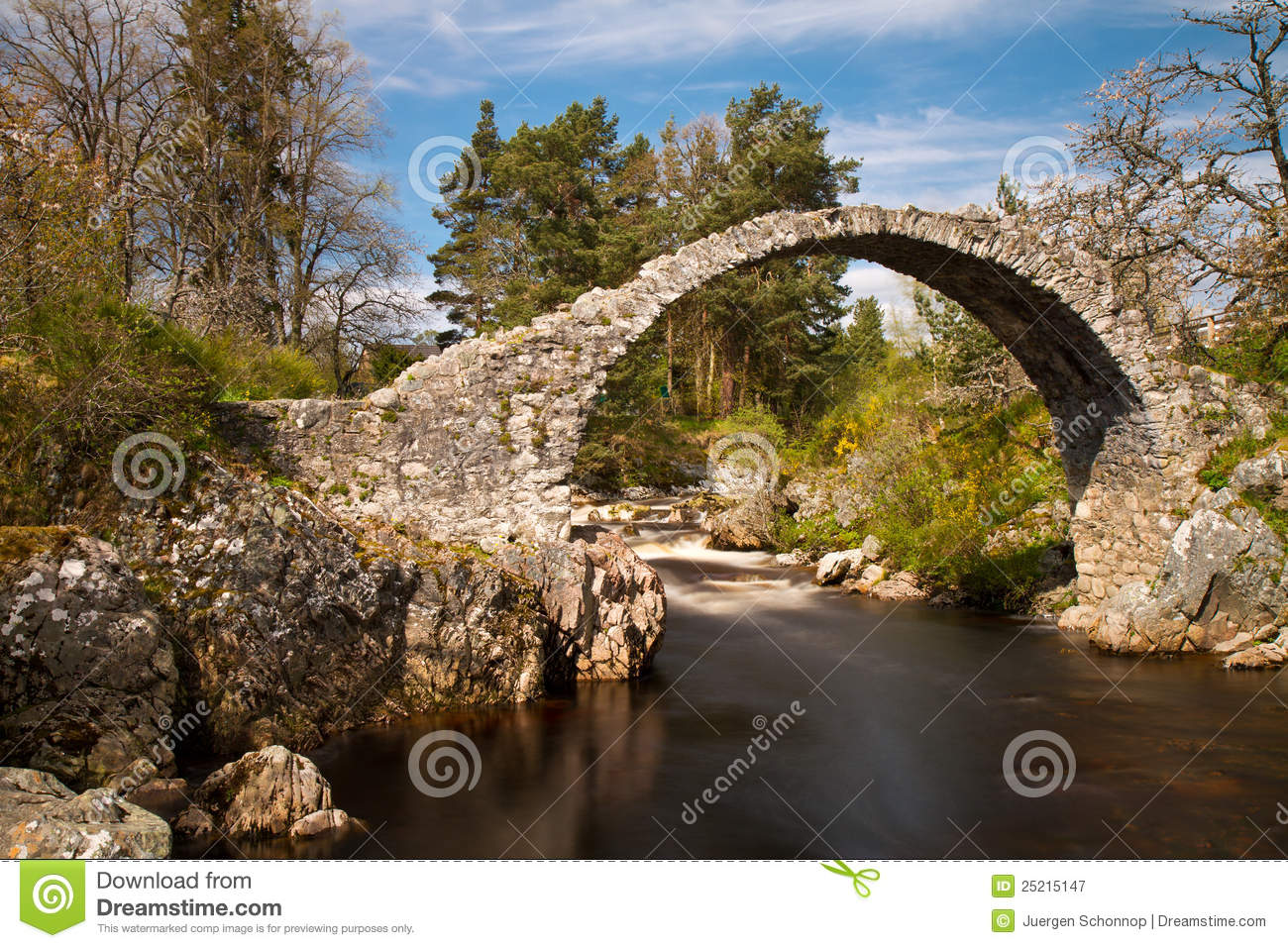 Royalty free stock photography medieval stone bridge over a river