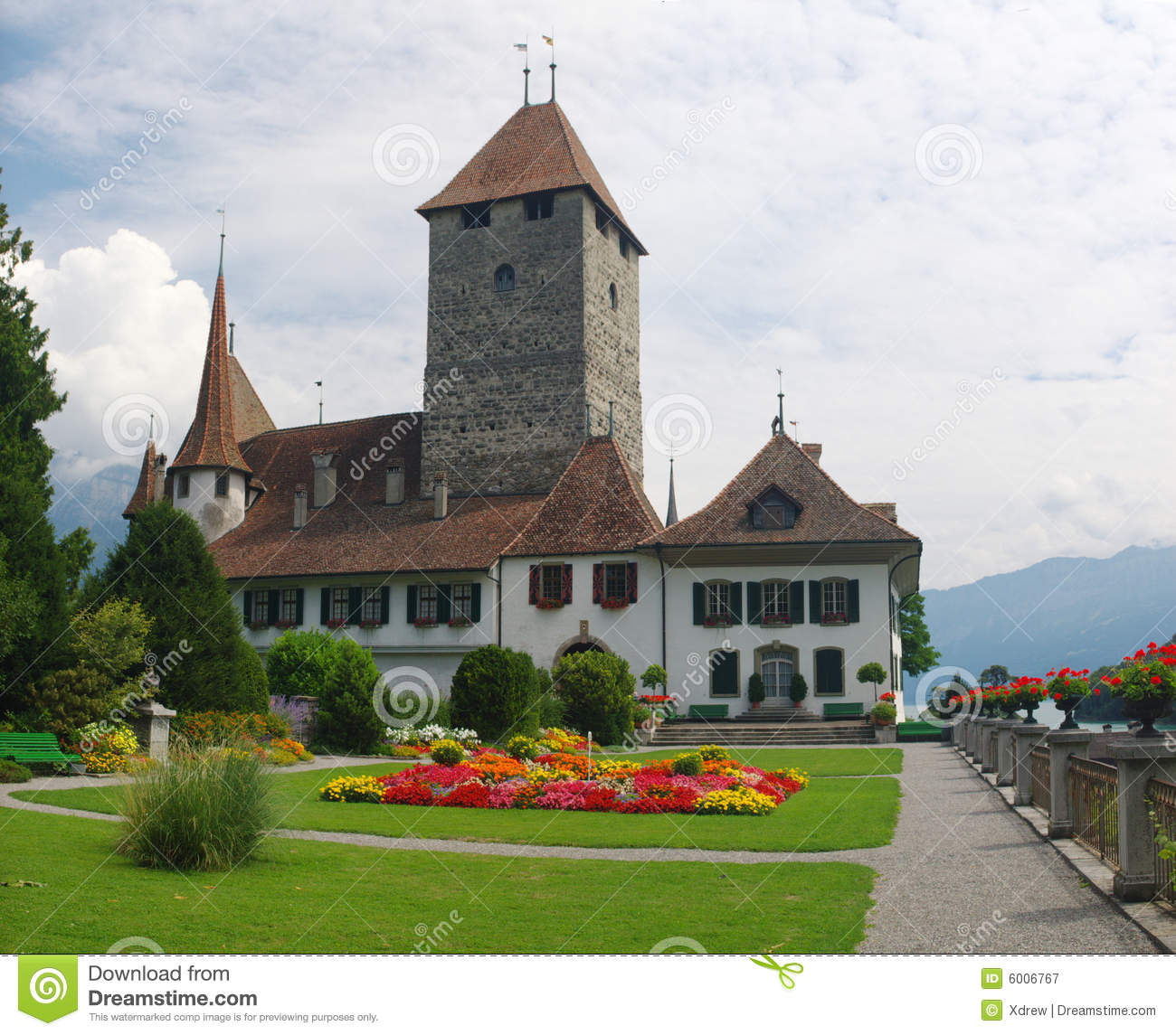 Medieval Swiss Castle Royalty Free Stock Photography