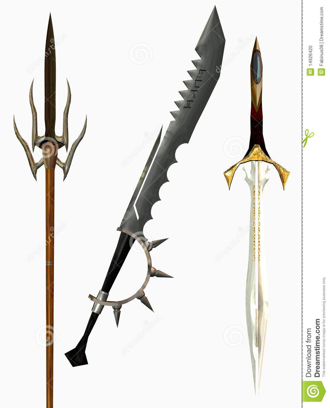 Medieval swords stock illustration. - 70.9KB