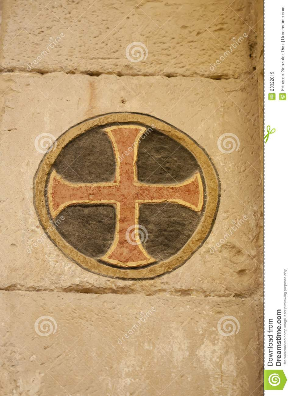 Medieval Symbol Stock Image Image Of Wall Symbol Cross 23322019