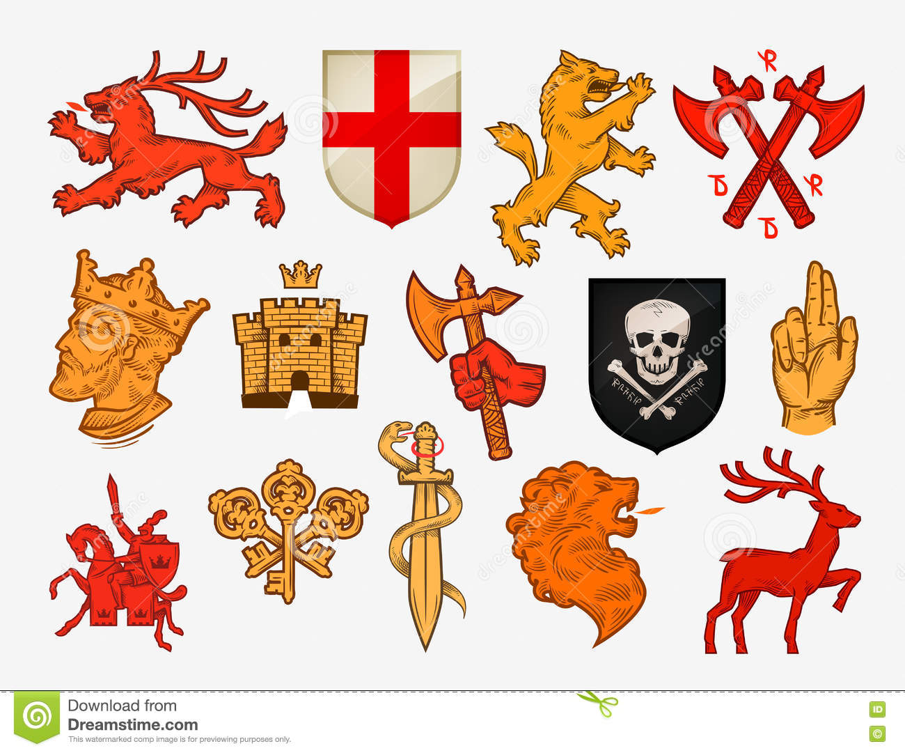 Lion king vector lion symbols stock photo image of mammal medieval symbols or icons collection vector logos stock photo biocorpaavc Gallery