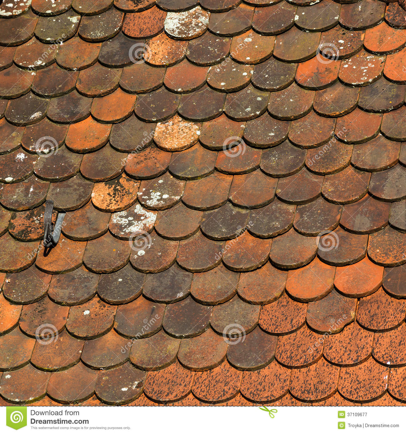 Medieval Tiled Roof Texture Royalty Free Stock