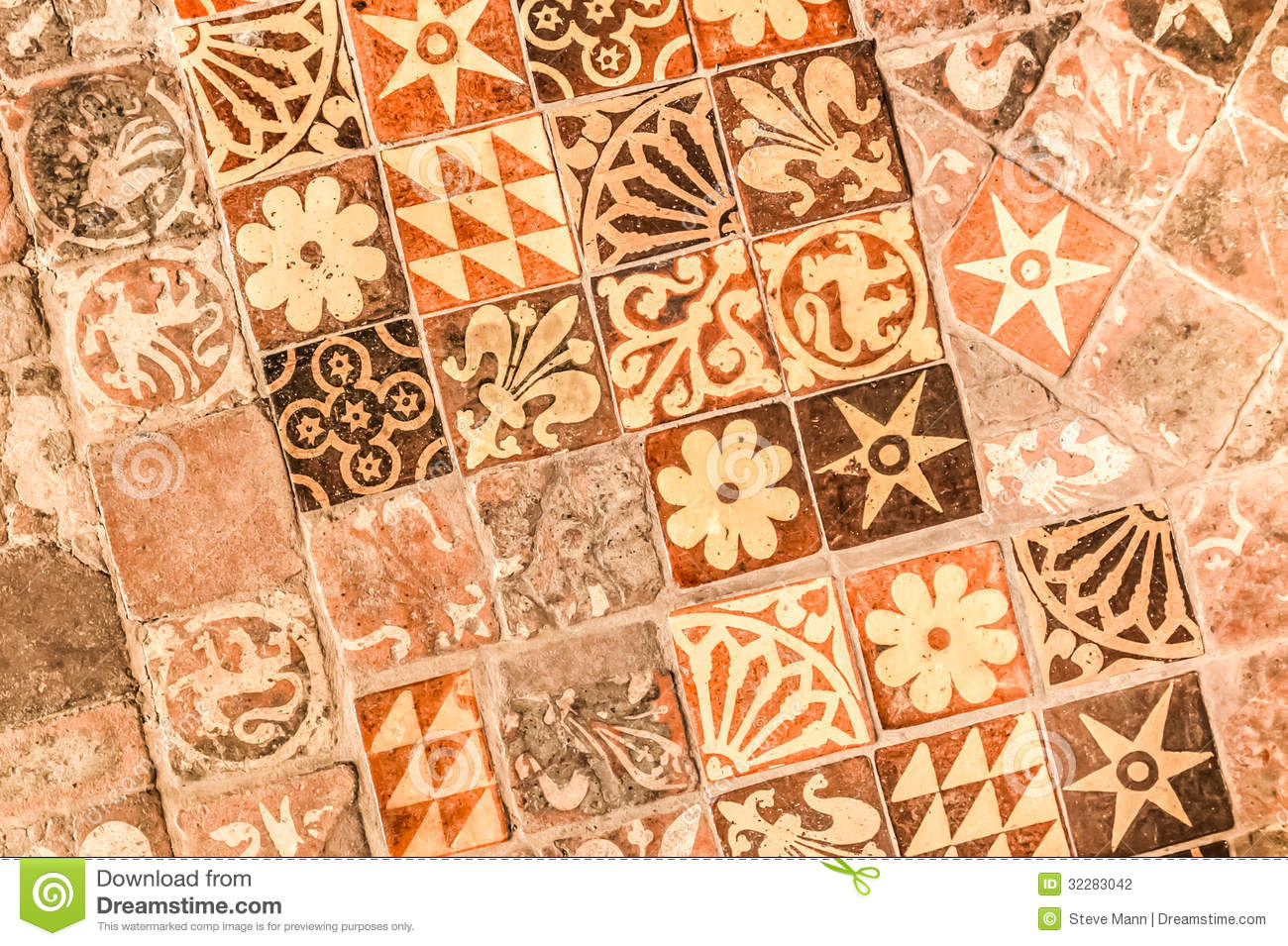 Medieval Tiles Stock Photography Image 32283042