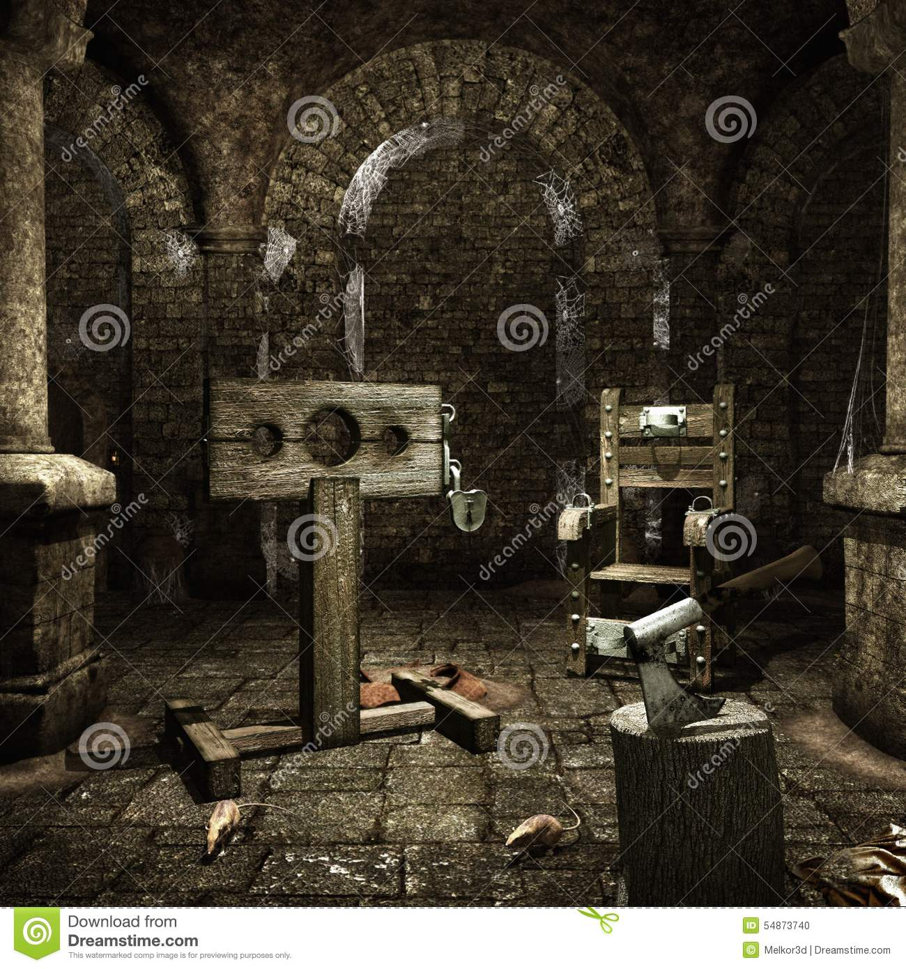 Medieval Torture Chamber Stock Photo Cartoondealer Com