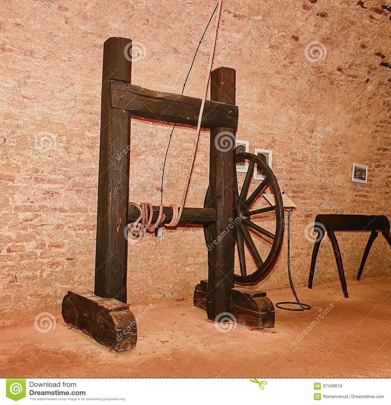 46b44eaa9 Medieval Torture Rack. Medieval Instrument Of Torture . Editorial ...
