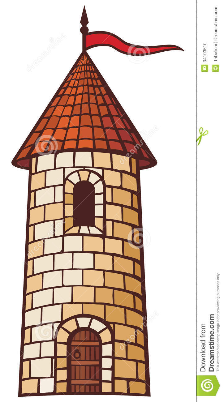 medieval tower stock vector illustration of historic