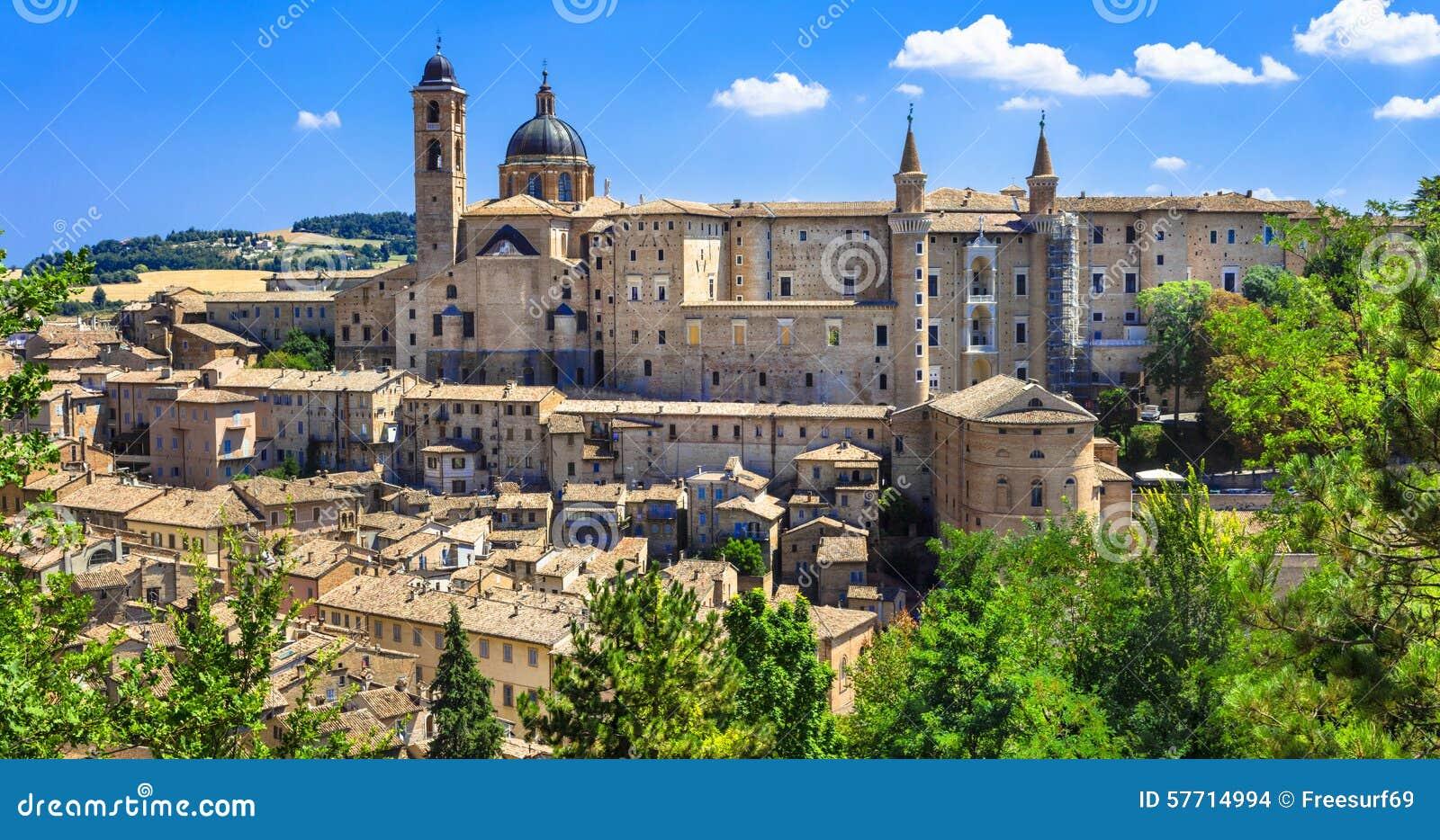 Medieval town Urbino,Unesco site. Marche, Italy