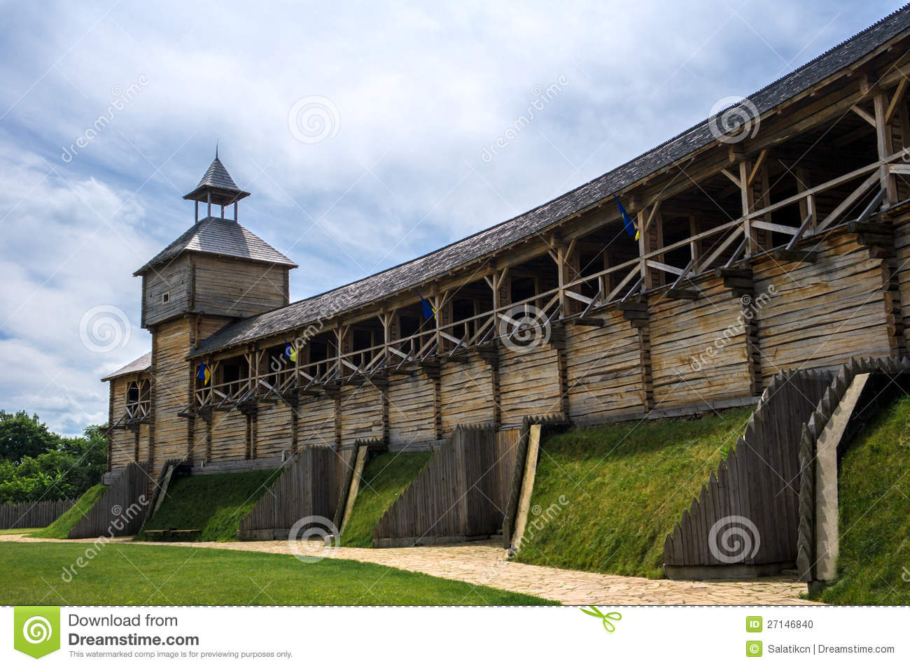 Medieval ukrainian wooden fortress stock photo image for Old wooden forts
