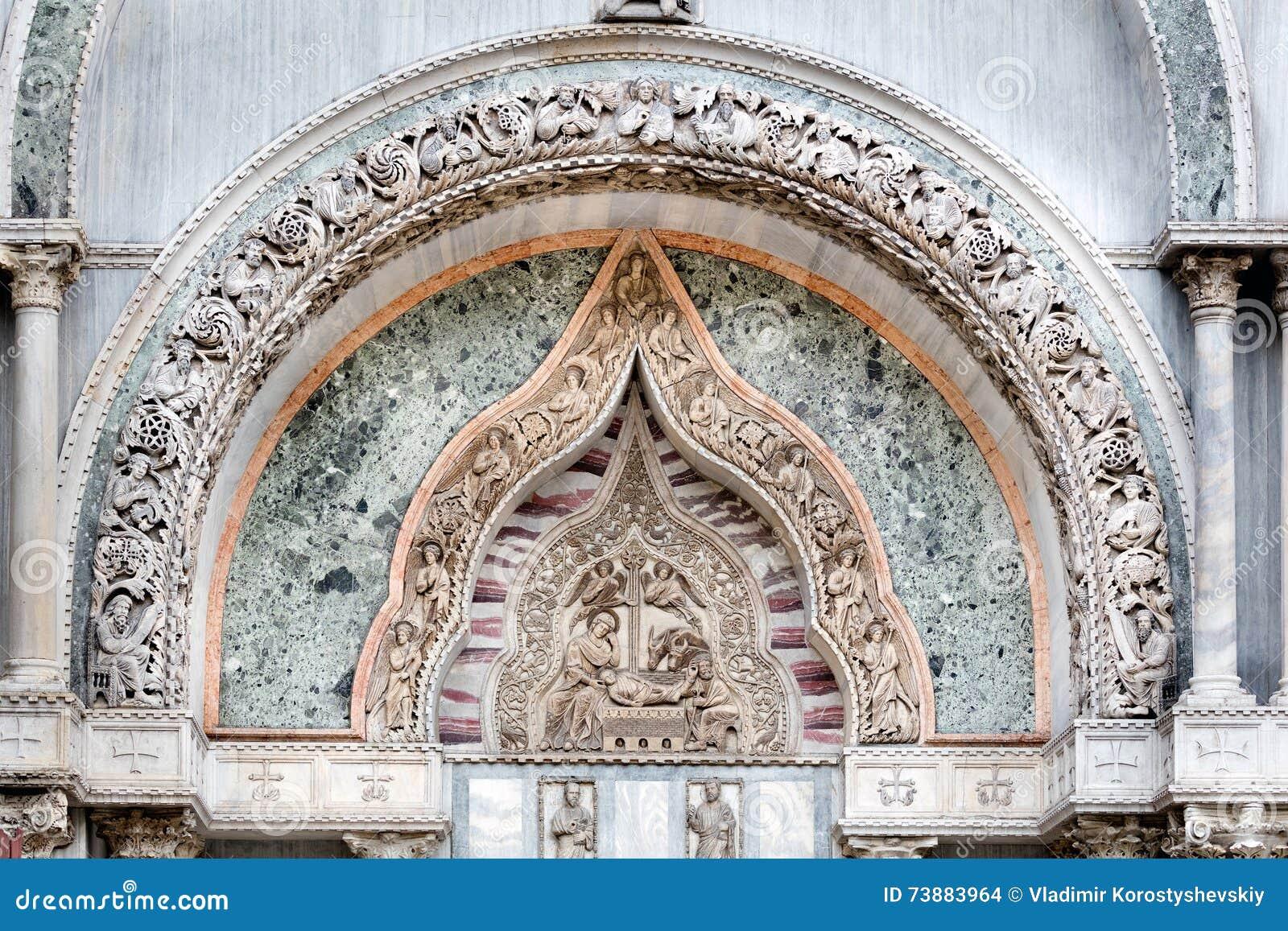 Venetian Gothic medieval venetian gothic ornaments on the san marco basilica fac