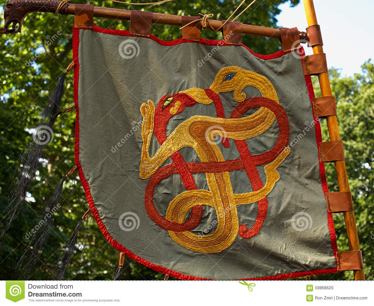 Me Val Viking Knight Banner Flag Stock Photo Image Of Ceremony Army