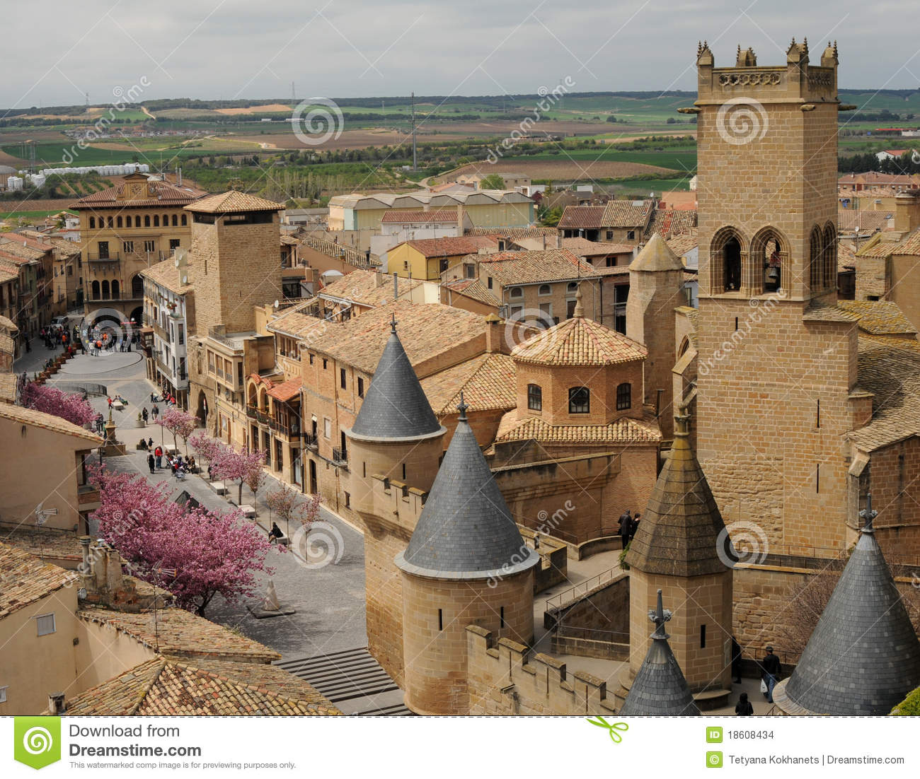 Olite Spain  city photo : Medieval Village Of Olite, Spain Stock Images Image: 18608434