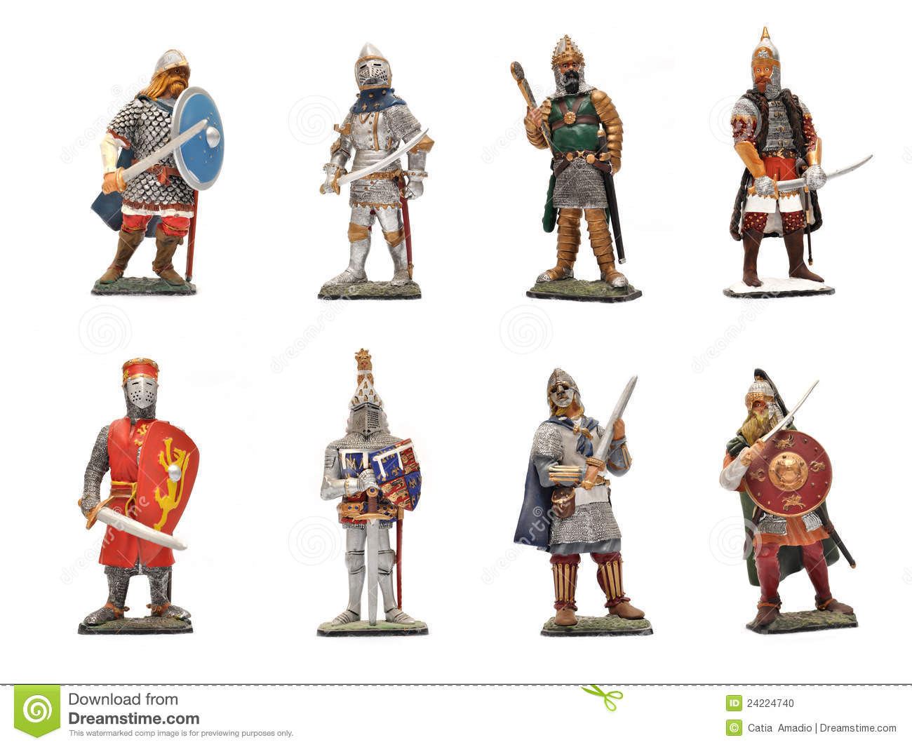 Medieval Warriors Stock Photo Image Of Statue Shield