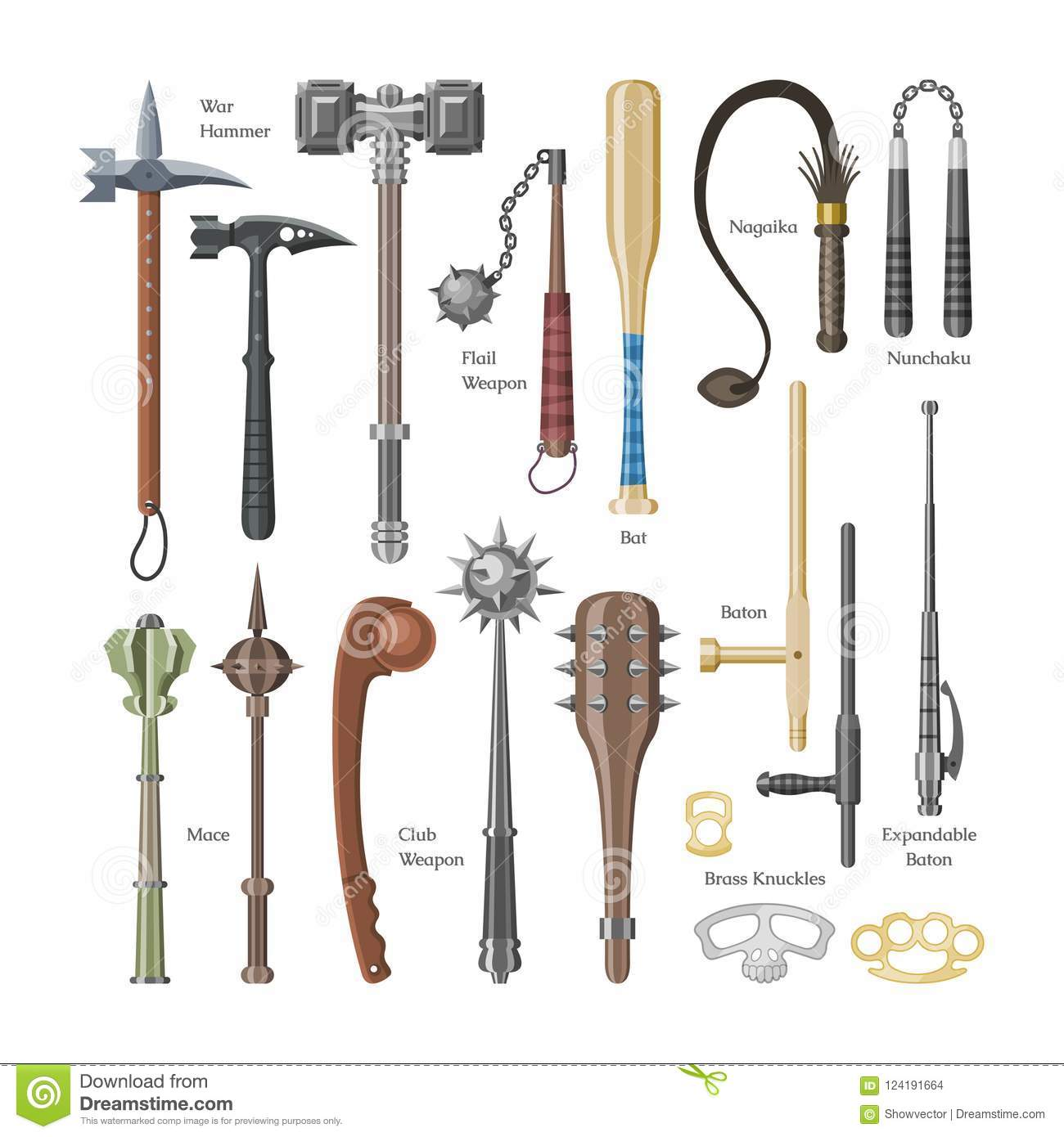 medieval weapons vector ancient protection warrior and antique metal