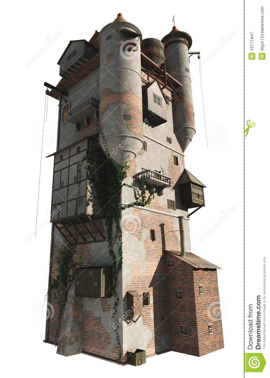 Medieval Or Wizard S Tower Isolated Version Royalty Free