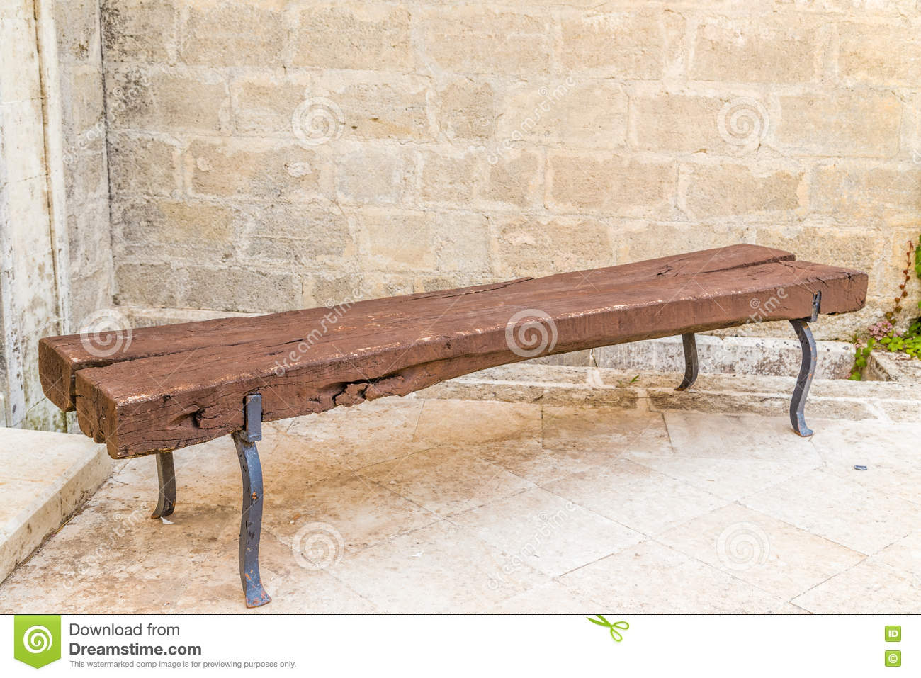 Fine Medieval Wooden Bench Stock Image Image Of Wooden Logs Machost Co Dining Chair Design Ideas Machostcouk