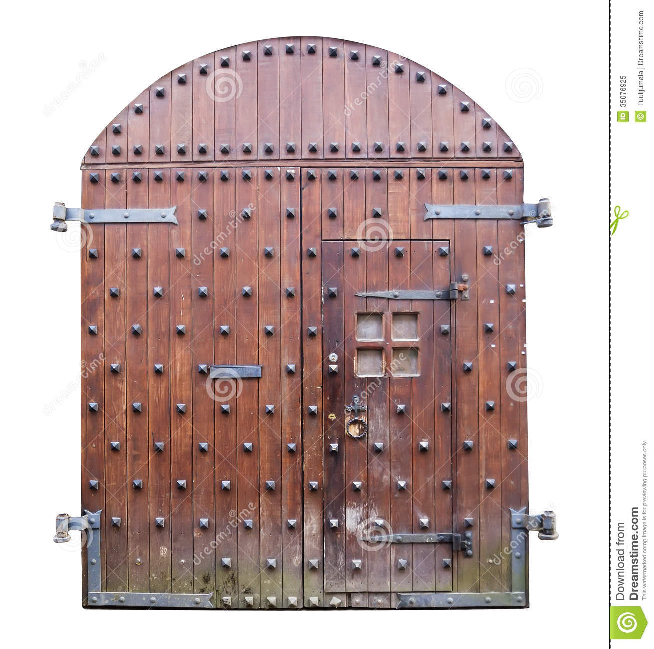 Medieval Wooden Castle Gates Royalty Free Stock Photo