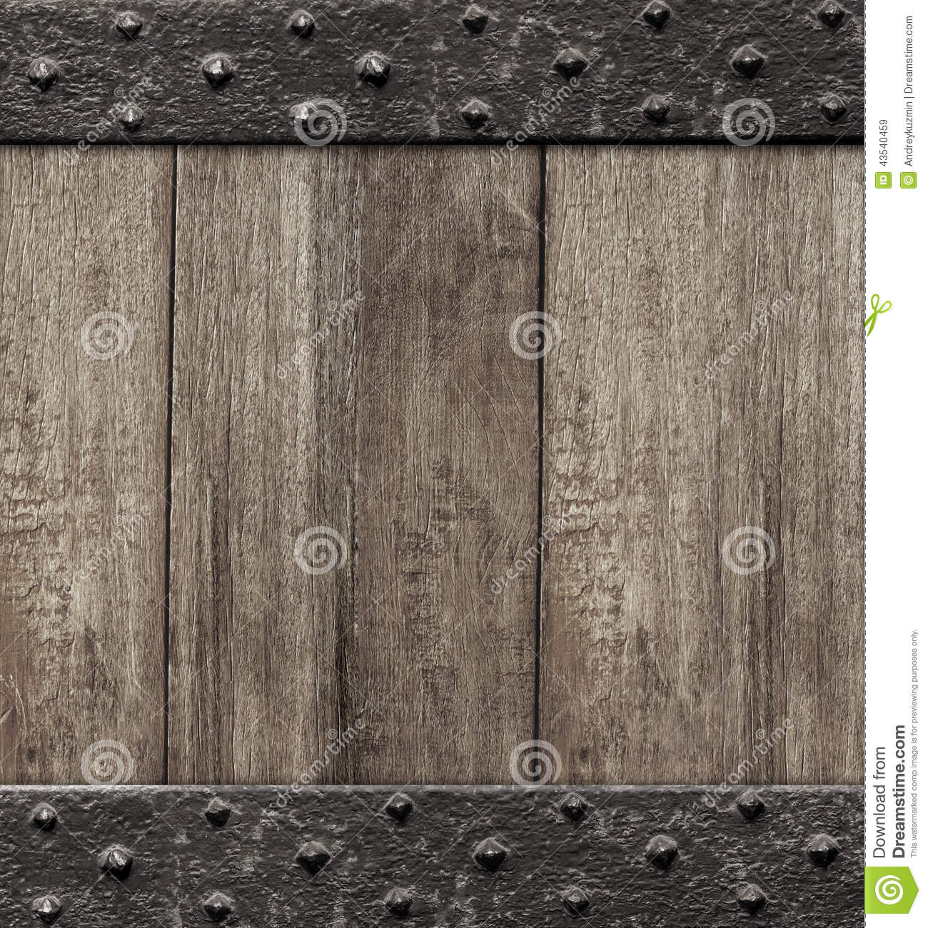 Medieval Wooden Gate Door Background Stock Photo Image
