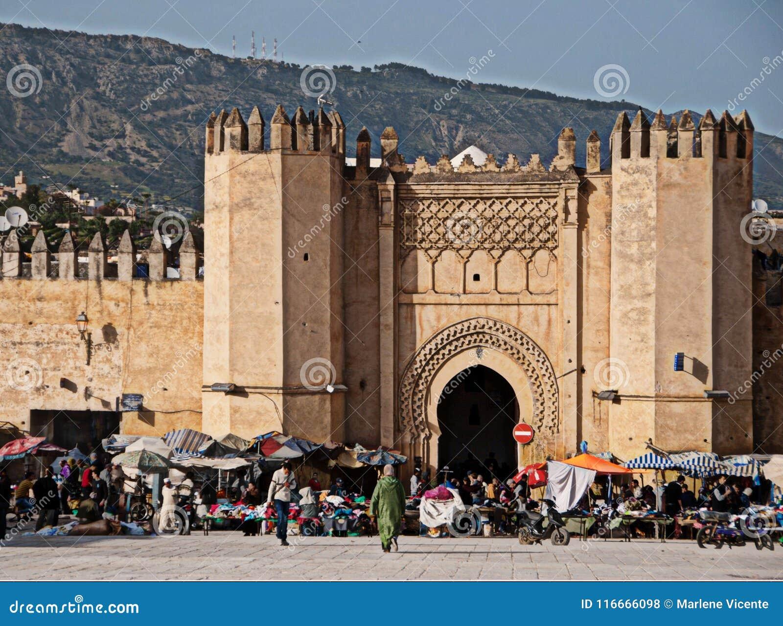 Medina av Fez i Marocko