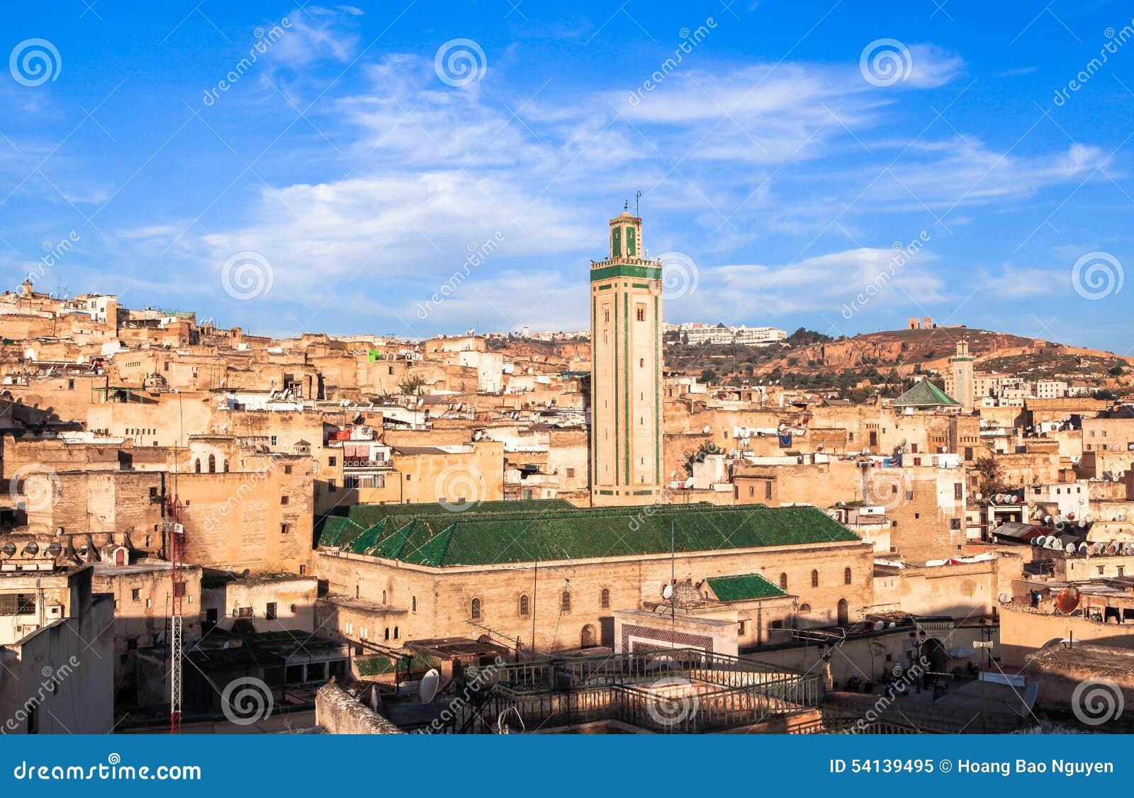 medina of fez in morocco stock photo