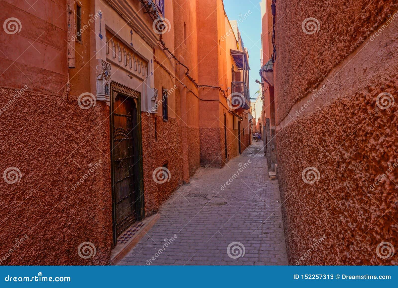 Medina rojo de Marrakesh, Marruecos