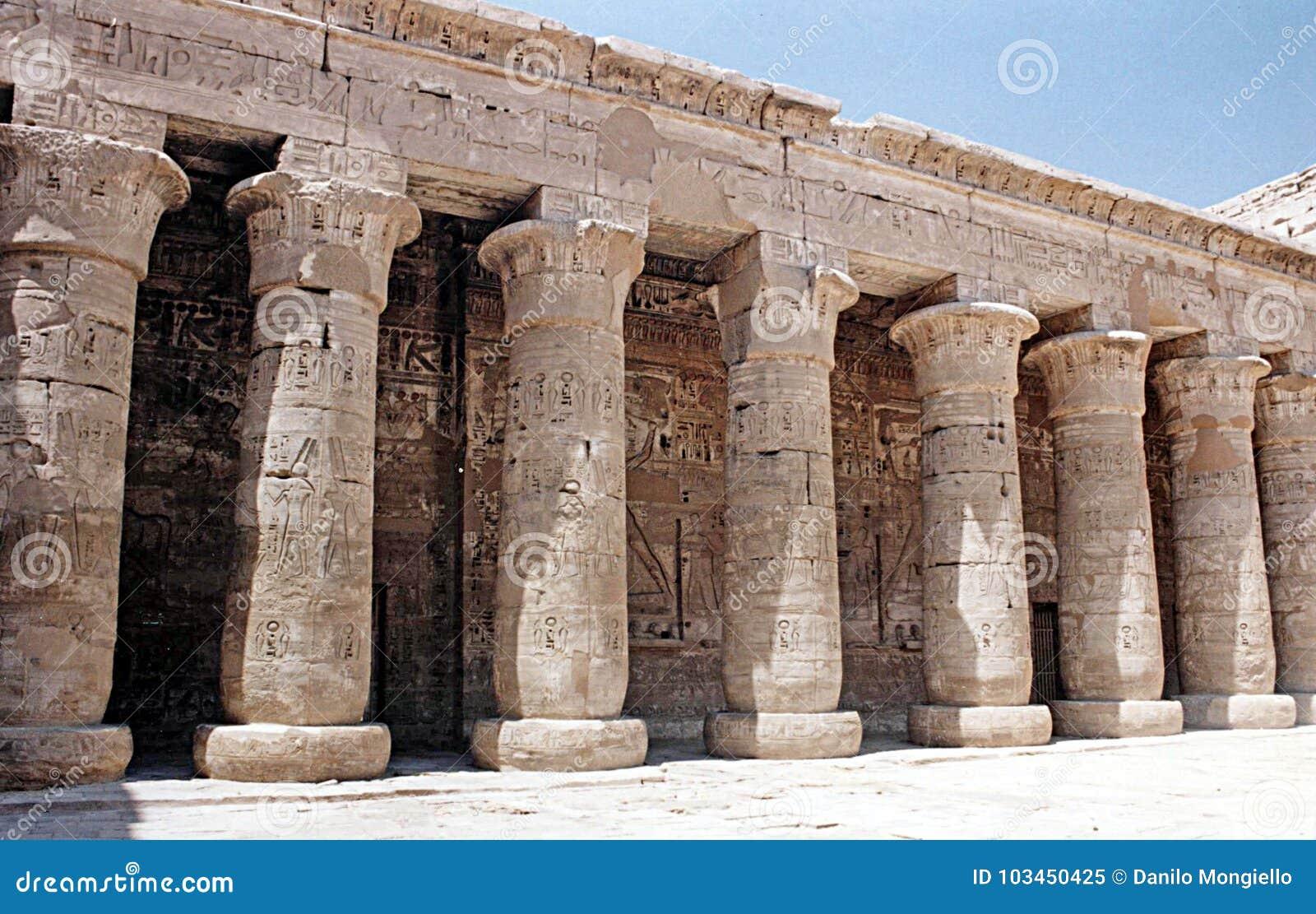 Medinet de habu de l Egypte